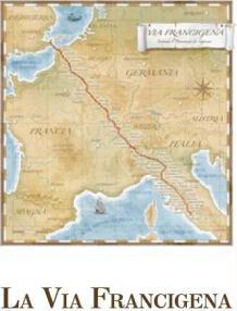 La via francigena mappa