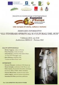 Gli itinerari culturali e Spirituali del Sud